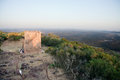 Lookout in mountain extremadura stone landscape community spain Royalty Free Stock Photo