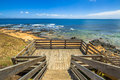 Lookout phillip island from the wooden walkway in flynn s beach victoria australia Stock Image