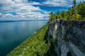 Lookout at Sleeping Giant Provincial Park  Ontario Canada Royalty Free Stock Photo
