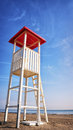 Lookout tower at a beach Stock Photo