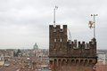 Lookout tower of castle in the city of udine in italy Royalty Free Stock Photography
