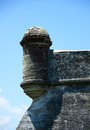 Lookout tower close up of at castillo de san marcos fort Stock Photography
