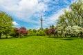 Lookout tower prague petrin hill park czech republic resembling eiffel Stock Photography