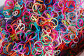 Loom bands colorful of elastic texture background Stock Photos