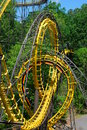 Loopin coaster looping roller with interlocking loops Royalty Free Stock Photography