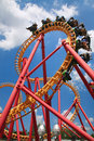 Looping Roller Coaster Royalty Free Stock Photo