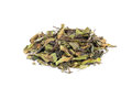 Loose green leaves of white tea bai mu dan Royalty Free Stock Photo