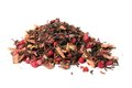 Loose orange blossom tea pile of dried berry with leaves ready to steep and brew on a white background Royalty Free Stock Image