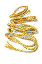 Loose rope spreaded out on white background Royalty Free Stock Photography