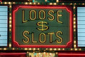 Loose slots gambling neon lights Royalty Free Stock Images