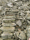 Loose stone stairs background Stock Images