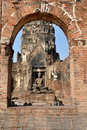 Lop Buri, Thailand: Wat Prang Sam Yot Royalty Free Stock Photo