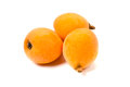 Loquat eriobotrya japonica cooking ingredient series available for clipping work Stock Photos