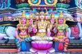 Lord bramma in the Hindu Kapaleeshwarar Temple,chennai, Tamil Na Royalty Free Stock Photo