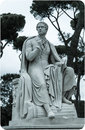 Lord byron sculpture full length statue of the english poet in rome italy Stock Photos