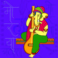 Lord Ganapati for Happy Ganesh Chaturthi festival background