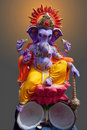 Lord Ganesh sitting on lotus Royalty Free Stock Images