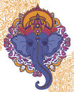 Lord Ganesha, can be used as card for celebration Ganesh Chaturth