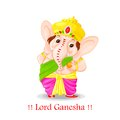 Lord ganesha easy to edit vector illustration of Stock Photography