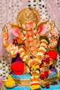 Lord ganesha this god of knowledge and the remover of obstacles is also the older son of shiva is also called vinayak Royalty Free Stock Photo