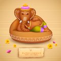 Lord ganesha illustration of statue of made of clay ganesh chaturthi Royalty Free Stock Photos