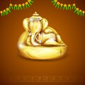 Lord ganesha illustration of statue of made of gold for ganesh chaturthi Royalty Free Stock Image