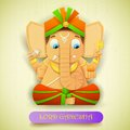 Lord ganesha illustration of statue of made of paper for ganesh chaturthi Royalty Free Stock Photography