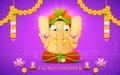 Lord ganesha illustration of statue of made of paper for ganesh chaturthi Stock Images