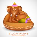 Lord ganesha illustration of statue of made of rock Stock Image