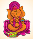 Lord Ganesha on lotus 3