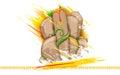 Lord ganesha made of rock for ganesh chaturthi illustration statue Royalty Free Stock Photos