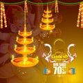 Lord Ganpati on Ganesh Chaturthi sale promotion advertisement background