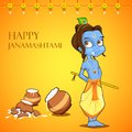 Lord krishana in janmashtami illustration of Stock Photos
