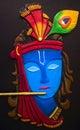 Lord krishna beautiful art work of Royalty Free Stock Image