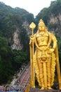 Lord Murugan statue. Batu Caves hindu temple. Gombak, Selangor. Malaysia Royalty Free Stock Photo