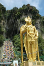 Lord Murugan Statue at Batu Caves Thaipusam Stock Images