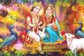 Lord Radha Krishna Beautiful Wallpaper Royalty Free Stock Photo