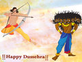 Lord Rama killing Ravana for Dussehra celebration.