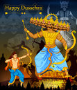 Lord Rama killing Ravana during Dussehra festival of India