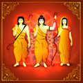 Lord Rama, Laxman and Goddess Sita for Dussehra.