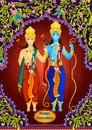 Lord Rama and Laxmana wishing Happy Dussehra