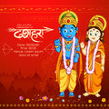 Lord Rama and Sita in Dussehra poster