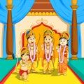 Lord Rama, Sita, Laxmana and Hanuman in Dussehra poster