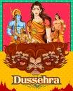 Lord Rama, Sita, Laxmana, Hanuman and Ravana in Dussehra poster