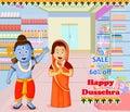 Lord Rama and Sita wishing Happy Dussehra