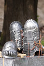 The Lord of the rings: Gondor helmets Stock Photography