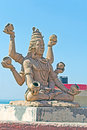 Lord shiva in somnath sculpture of at beach gujarat Stock Images