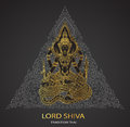 Lord Shiva on triangle background shape