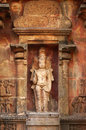 Lord vishnu deity the at the unesco world heritage site of tanjore india Stock Photos
