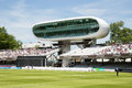 Lords cricket ground the futuristic media centre at london Royalty Free Stock Photo